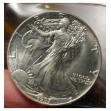 US Coins 1987 Uncirculated Silver Eagle