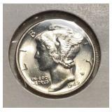 US Coins 26 Mercury Dimes Many AU/BU