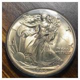 US Coins 1944 Walking Liberty Half AU/BU