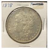 US Coins 1878 Morgan Silver Dollar Circulated
