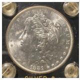 US Coins 1881-S Morgan Silver Dollar BU