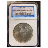 US Coins 1883-O Morgan Silver Dollar NGC BU