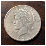 US Coins 1925 Peace Silver Dollar Circulated