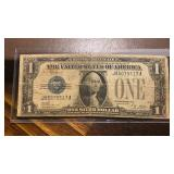 US Paper Money 1928 A $1 Bill Circulated