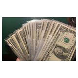 US Paper Money 69 X $1 Federal Reserve Notes