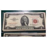 US Paper Money 13 X $2 Notes 1953 & 63