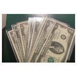 US Paper Money 11 X $2 Notes