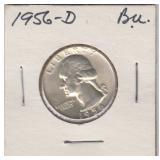 US Coins 1956-D Washington Quarter AU