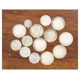 US Coins 9 X 1964 Kennedy Halves