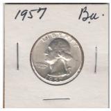 US Coins 1957 Washington Quarter AU