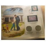 US Coins CLad Kennedy Collection on Pages
