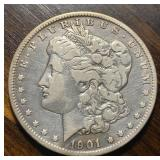 US Coins 1901-O Morgan Silver Dollar Circulated