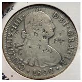 Mexico Coins 8 Reales 1802 W/Chop Marks