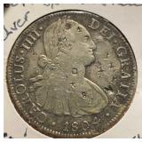 Mexico Coins 8 Reales 1804 w/Chop Marks