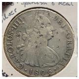 Mexico Coins 8 Reales 1806 w/Chop Marks