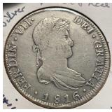 Mexico Coins 8 Reales 1816