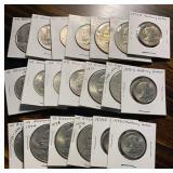 US Coins 13 SBA & Eisenhower Silver Dollars