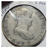 Mexico Coins 8 Reales 1817