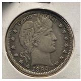 US Coins 1894 Barber Quarter