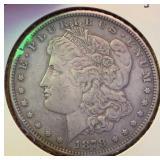 US Coins 1878-S Morgan Silver Dollar