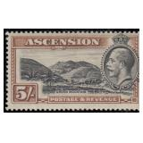 Ascension Stamps #23-32 Mint HR F/VF CV $161