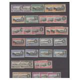 Ascension Stamps #40-49 perf varieties CV $741.75