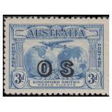 Australia Stamps #O1-O5 Mint HR CV $457.50