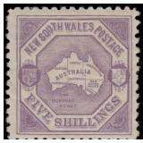New South Wales Stamps #87 Mint HR F/VF CV $400