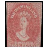 Tasmania Stamps #11 Mint HR Fine CV $375