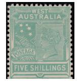 Western Australia Stamps #89-98 Mint HR CV $494
