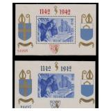 Belgium Stamps #B303-304 Mint HR Orval S/S CV $500