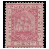 British Guiana Stamps #107-111 Mint HR CV $331.50