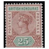 British Honduras Stamps #38-46 Mint HR CV $162