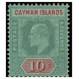 Cayman Islands Stamps #30 Mint HR VF CV $210