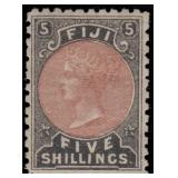 Fiji Stamps #40-45 Mint HR CV $227