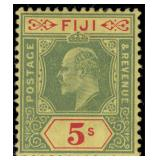 Fiji Stamps #70-77 Mint HR F/VF CV $252