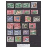 2Fiji Stamps #117-131B perf varieties CV $216.90