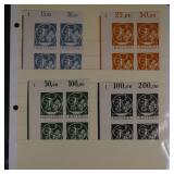 Bavaria Stamps #251a-254a NH Corner Blocks CV $112
