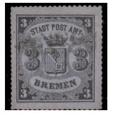 Bremen Stamps #9a Used VF Sound with Cert CV $4000