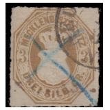 Mecklenburg-Strelitz Stamps #6 Used Cert CV $1275
