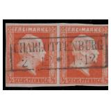 Germany Prussia Stamps #10 Used Pair CV $350