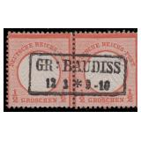 Germany Stamps #3 Used Pair CV $150