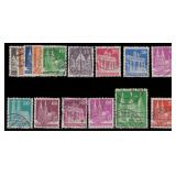 Germany Stamps #634a-658a Used CV $175