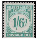 Gilbert & Ellice Stamps #J1-J8 Mint NH CV $180