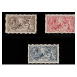 Great Britain Stamps #179-181 Mint NH VF CV $1050