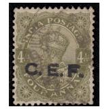 India Stamps #M30 Used VF 1921 C.E.F. CV $210