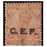 India Stamps #M29 Used Fine 1921 C.E.F. CV $240