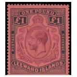 Leeward Island Stamps #61-83 Mint HR F/VF CV $545