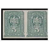 Mexico Stamps #357a Imperf Pair CV $250