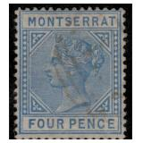 Montserrat Stamps #9 Used F/VF CV $300